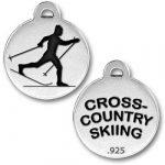 Cross Country Skiing Charm Image