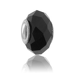 Black Glass Bead Image