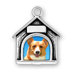 Dog House Picture Frame Charm Engraved Image