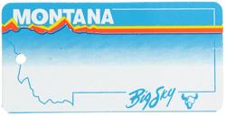 Custom Engraved Montana Key Tag Image