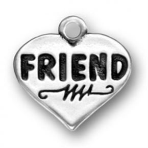 Pewter Friend Heart Charm Image
