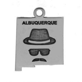 Pewter Heisenberg Key Ring Image