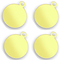 Engraved Brass Round Tags 10mm Image