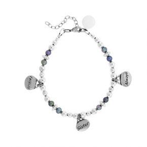Personalized Forever Sister Always Beaded Bracelet Image