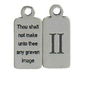 Pewter Ten Commandments Charm Ii Image