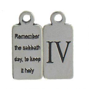Pewter Ten Commandments Charm Iv Image