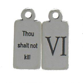 Pewter Ten Commandments Charm Vi Image