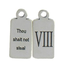Pewter Ten Commandments Charm Viii Image