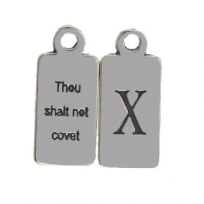 Pewter Ten Commandments Charm X Image