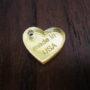 Custom Laser Cut Acrylic Heart Tagspkg 50 Image