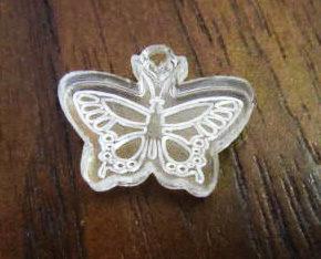 Custom Laser Cut Acrylic Butterfly Tagspkg 50 Image
