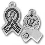 Pewter Powmia Ribbon Charm Image