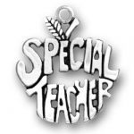 Pewter Special Teacher Apple Charm Image
