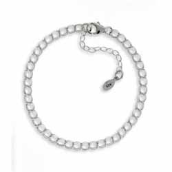 42mm Parallel Double Link Curb Chain Bracelet With Clasp Image