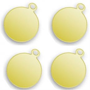 Engraved Gold Plated Round Tags 10mm Image