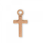Rose Gold Plated Pewter Thin Cross Charm Image