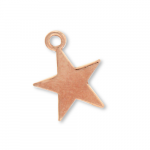 Rose Gold Plated Pewter Star Charm Image