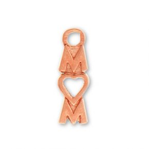 Rose Gold Plated Pewter Mom With Heart Image
