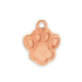 Rose Gold Plated Pewter Paw Print Charm Image