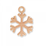 Rose Gold Plated Pewter Snowflake Charm Image