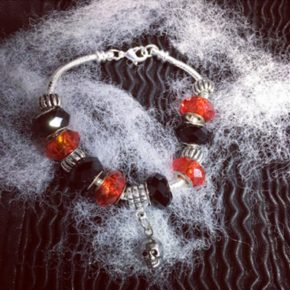 Halloween Charm Silver Tone Charm Bracelet