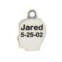 Boys Profile Charm Engraved Image