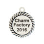Sterling Silver Engravable Disc Charm Image