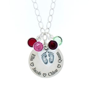 Personalized Necklace With Birthstone Image
