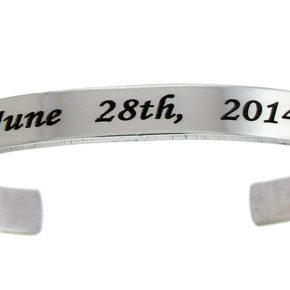 Aluminum Customizable Cuff Bracelet Image