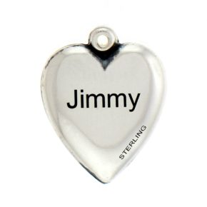 Engraved Flag Puffed Heart Personalized Charm