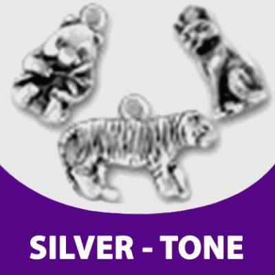 Silver Tone Charm Jewelry for Bracelets