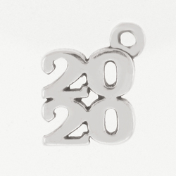 Sterling Silver 2020 Charm
