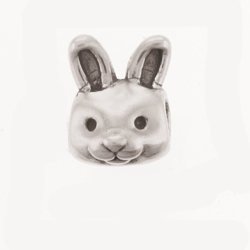 Sterling Silver Bunny Bead Pandora Inspired