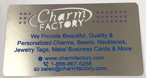 Custom metal business cards charm factory custom metal business cards reheart Gallery