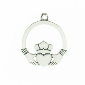 Sterling Silver Claddagh Heart Charm